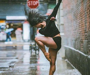 city, rain, and dance image
