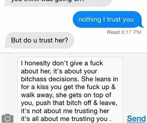 trust, text, and Relationship image