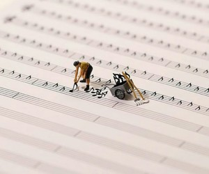 music, notes, and love image