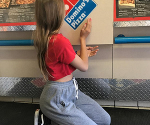 girl, pizza, and tumblr image
