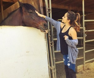 horse, becky g, and girl image