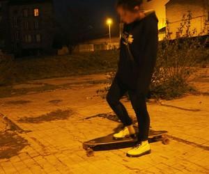 black, night, and street image