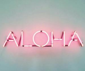 Aloha, pink, and light image