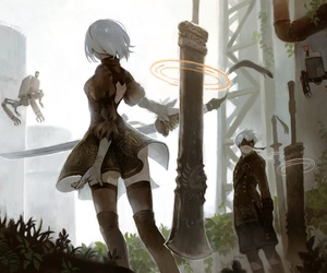 anime, 9s, and video game image