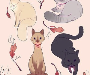 art, cats, and cute image