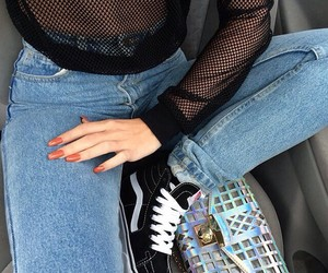 fashion, jeans, and nails image