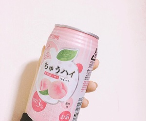 drink, peach, and pink image