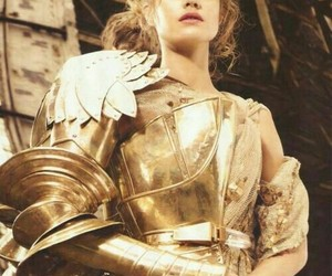 Natalia Vodianova, armor, and gold image