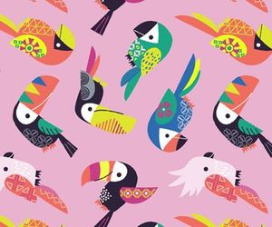 pattern, background, and bird image