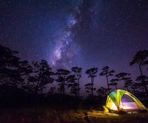 camping, milky way, and galaxy image