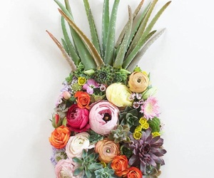 flowers and pineapple image