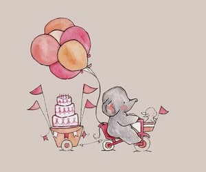 cute, elephant, and wallpaper image