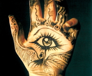 hand, eye, and art image
