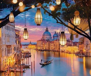 venice, travel, and lights image
