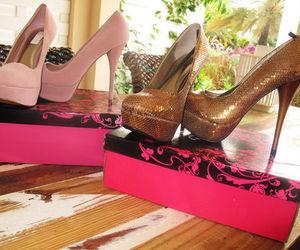 box, carton, and pink image