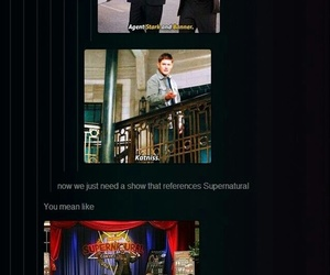 dean winchester, sammy, and shows image