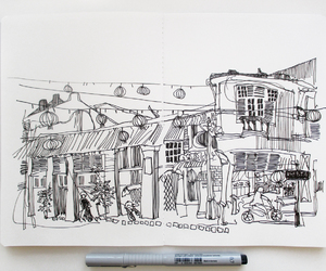 art, cityscape, and drawing image