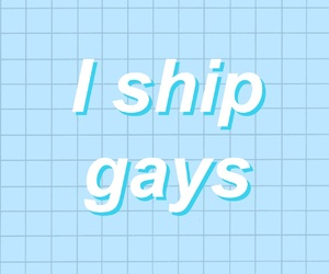 aesthetic, blue, and gay image