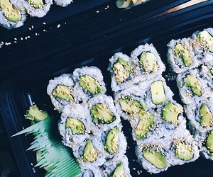 food, healthy, and sushi image