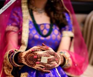 bride, henna, and hindi image
