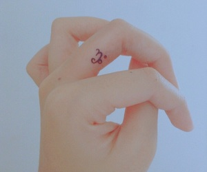 capricorn and mini tattoo image