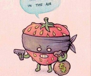 funny and strawberry image