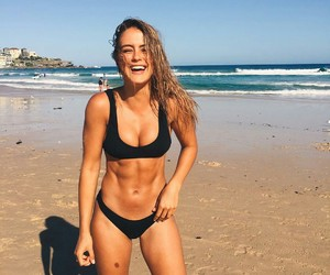 beach, fit, and girl image