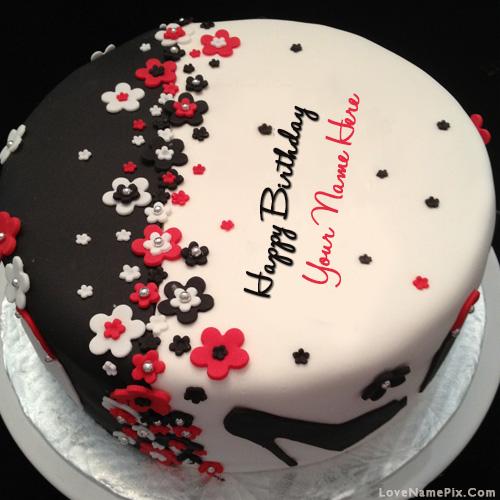 Enjoyable Elegant Happy Birthday Cake Name Generator On We Heart It Personalised Birthday Cards Veneteletsinfo