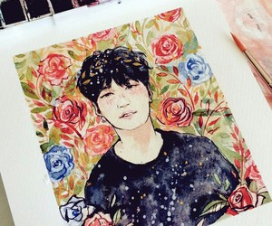 kpop, min yoongi, and painting image