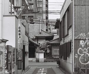 asia, blackandwhite, and japan image