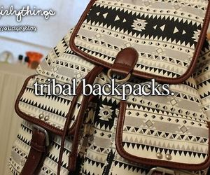backpack, tribal, and bag image