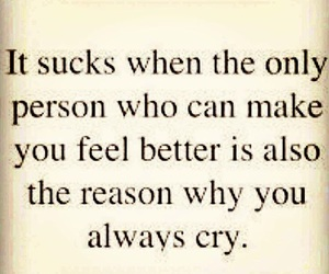 cry, love, and quote image