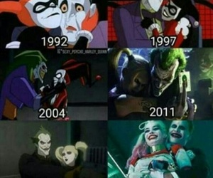 comics, harley, and joker image