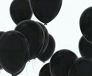 black, balloons, and black and white image