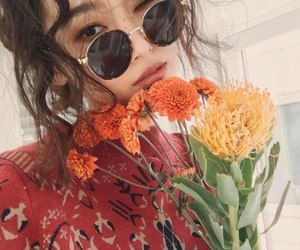 flowers, girl, and asian image