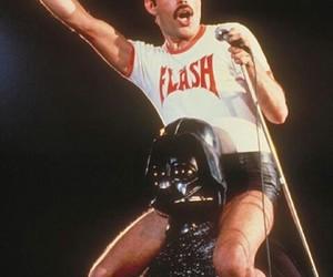 Freddie Mercury, Queen, and darth vader image