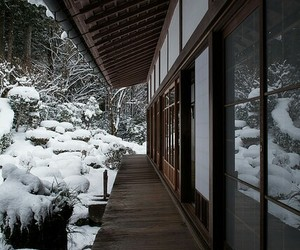 japan, snow, and traditional image