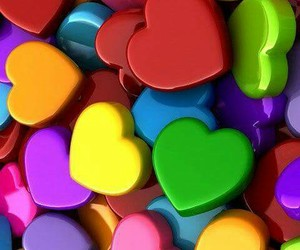 colors, hearts, and heart image