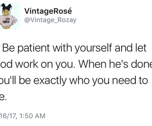 advice, patience, and twitter image