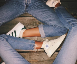 adidas, converse, and jeans image