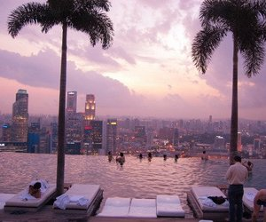 city, pool, and summer image