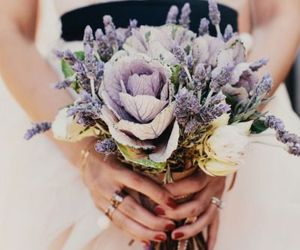 bride, flowers, and pretty image
