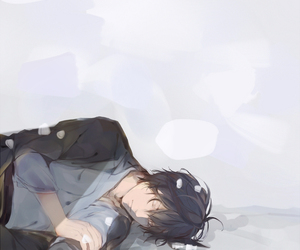 anime, sleeping, and anime boy image