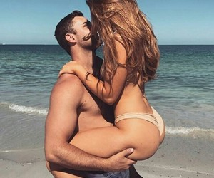 beach, Relationship, and couple image