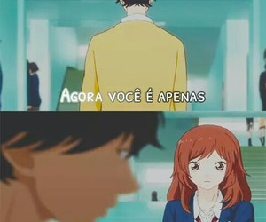 anime, triste, and frases image