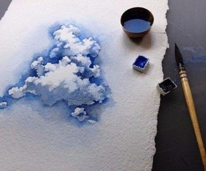 art, beautiful, and blue image