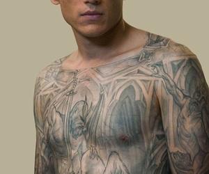 prison break, wentworth miller, and tattoo image