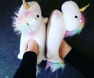 unicorn, sweet, and pantuflas image