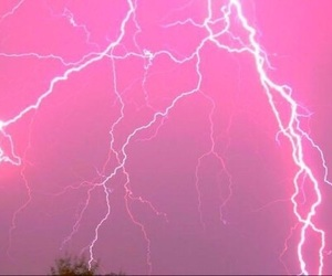 pink, lightning, and aesthetic image