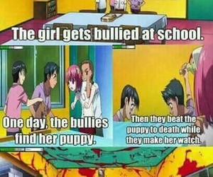 anime, elfen lied, and funny image